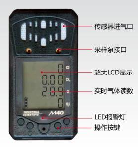 煤矿用M40.M手持式四合一多参数气体检测仪