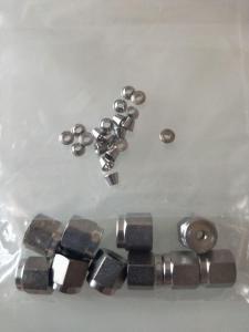 1/8的Agilent 安捷倫填充柱螺帽及墊子